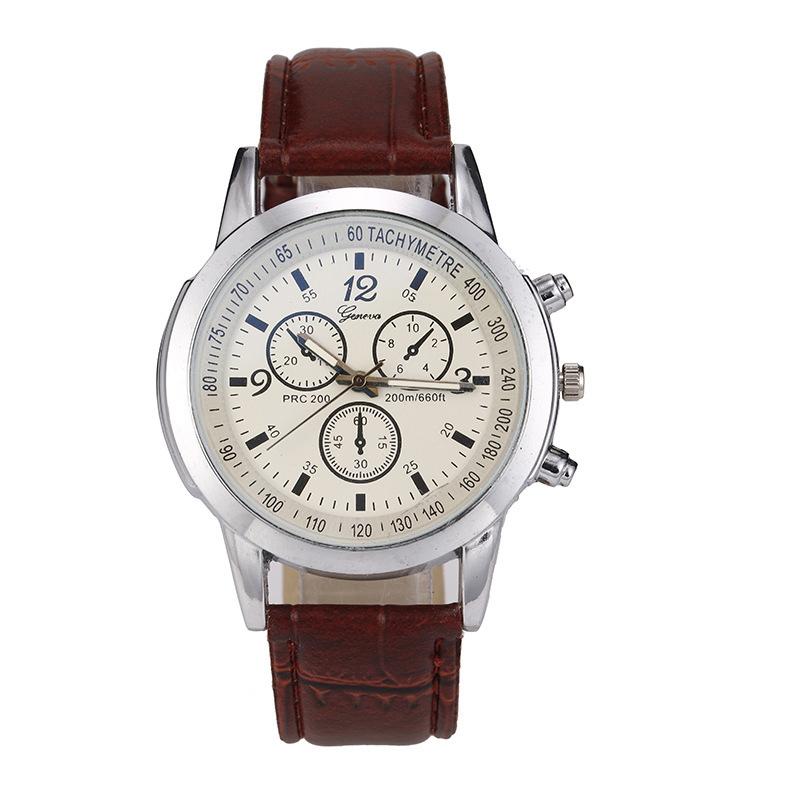 Elegantní pánské hodinky hnědé
